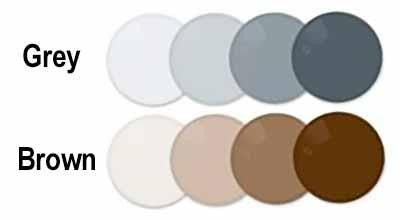 Essilor 1.61 Ormix Transition VII Crizal Alize+UV, Crizal Forte UV Brown, Grey